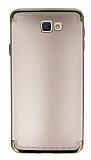 Eiroo Samsung Galaxy J7 Prime 3ü 1 Arada Gold Kenarlı Rose Gold Silikon Kılıf