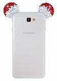 Eiroo Samsung Galaxy J7 Prime Taşlı Kulaklı Kırmızı Silikon Kılıf