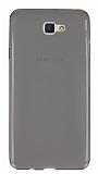 Eiroo Samsung Galaxy J7 Prime Ultra İnce Şeffaf Siyah Silikon Kılıf