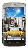 Eiroo Samsung Galaxy Mega 6.3 Gizli M�knat�sl� Pencereli Sar� Taksi Deri K�l�f