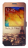 Eiroo Samsung Galaxy Note 3 Gizli M�knat�sl� Pencereli Jetaime Deri K�l�f