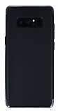 Eiroo Samsung Galaxy Note 8 3ü 1 Arada Siyah Kenarlı Siyah Silikon Kılıf