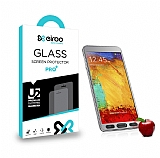 Eiroo Samsung N9000 Galaxy Note 3 Tempered Glass Ayna Silver Cam Ekran Koruyucu