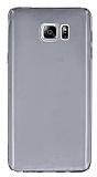 Samsung Galaxy Note 5 Ultra İnce Şeffaf Siyah Silikon Kılıf