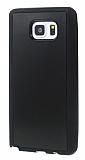 Eiroo Sticker Samsung Galaxy Note 5 Yapışan Siyah Rubber Kılıf