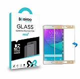 Eiroo Samsung Galaxy Note Edge Curve Tempered Glass Gold Full Cam Ekran Koruyucu