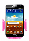 Eiroo Samsung Galaxy Note Serisi Pembe Ara� Tutucu