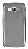 Samsung Galaxy On5 Ultra İnce Şeffaf Siyah Silikon Kılıf