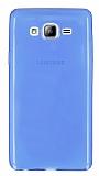 Samsung Galaxy On7 Ultra İnce Şeffaf Mavi Silikon Kılıf