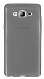 Samsung Galaxy On7 Ultra İnce Şeffaf Siyah Silikon Kılıf