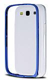 Eiroo Samsung Galaxy S3 / S3 Neo Metal Bumper �er�eve Mavi K�l�f