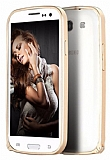 Eiroo Samsung Galaxy S3 / S3 Neo Metal Bumper Çerçeve Gold Kılıf