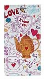 Eiroo Samsung Galaxy S6 Edge Plus Gizli M�knat�sl� Standl� Paris Love Deri K�l�f