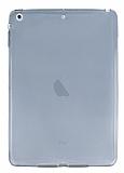 iPad Air / iPad 9.7 Ultra İnce Şeffaf Siyah Silikon Kılıf