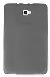Eiroo Samsung Galaxy Tab A 2016 T580 Ultra İnce Şeffaf Siyah Silikon Kılıf