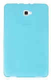 Eiroo Samsung Galaxy Tab A 2016 T580 Ultra İnce Şeffaf Mavi Silikon Kılıf