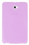 Eiroo Samsung Galaxy Tab A 2016 T580 Ultra İnce Şeffaf Pembe Silikon Kılıf