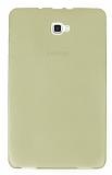 Eiroo Samsung Galaxy Tab A 2016 T580 Ultra İnce Şeffaf Gold Silikon Kılıf