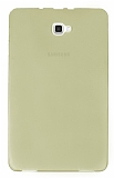 Samsung Galaxy Tab A 2016 T580 Ultra İnce Şeffaf Gold Silikon Kılıf
