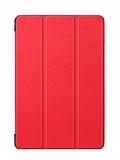 Eiroo Samsung Galaxy Tab A T590 10.5 Slim Cover Kırmızı Kılıf