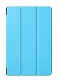 Eiroo Samsung Galaxy Tab A T590 10.5 Slim Cover Mavi Kılıf