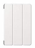 Eiroo Samsung Galaxy Tab A T590 10.5 Slim Cover Beyaz Kılıf