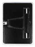 Eiroo Samsung Galaxy Tab S 10.5 Standlı Siyah Deri Kılıf