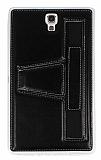 Eiroo Samsung Galaxy Tab S 8.4 Standl� Siyah Deri K�l�f
