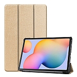 Eiroo Samsung Galaxy Tab S6 Lite P610 Slim Cover Gold Kılıf