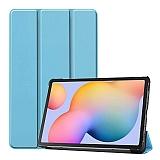 Eiroo Samsung Galaxy Tab S6 Lite P610 Slim Cover Mavi Kılıf