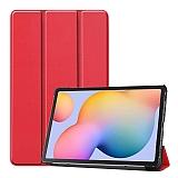Eiroo Samsung Galaxy Tab S6 Lite P610 Slim Cover Kırmızı Kılıf
