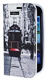 Eiroo Samsung i8190 Galaxy S3 mini Taksim Gizli M�knat�sl� Standl� Deri K�l�f