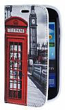 Eiroo Samsung i8190 Galaxy S3 mini Telefon Kul�besi Gizli M�knat�sl� Standl� Deri K�l�f