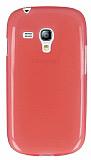 Samsung i8190 Galaxy S3 mini Ultra İnce Şeffaf Koyu Pembe Silikon Kılıf
