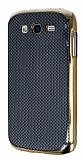 Eiroo Samsung i9082 Galaxy Grand Duos Gold Metal Kenarl� Siyah Rubber K�l�f