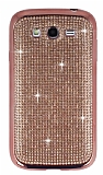Eiroo Samsung i9082 Galaxy Grand Duos Taşlı Rose Gold Silikon Kılıf
