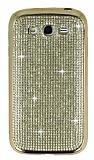 Eiroo Samsung i9082 Galaxy Grand Duos Taşlı Gold Silikon Kılıf