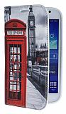 Eiroo Samsung i9082 Galaxy Grand / i9060 Grand Neo Telefon Kul�besi Gizli M�knat�sl� Standl� Deri K�l�f