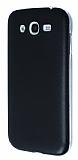 Eiroo Samsung i9082 Galaxy Grand / i9060 Grand Neo Ultra �nce Deri Siyah Silikon K�l�f