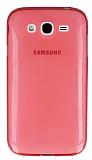 Samsung Galaxy Grand Ultra İnce Şeffaf Koyu Pembe Silikon Kılıf