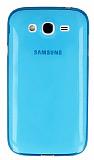 Samsung Galaxy Grand Ultra İnce Şeffaf Mavi Silikon Kılıf