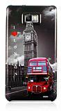 Eiroo Samsung i9100 Galaxy S 2 London Sert Parlak Rubber K�l�f