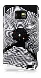 Eiroo Samsung i9100 Galaxy S2 Dalga Desenli Sert Parlak Rubber K�l�f