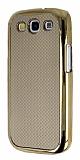 Eiroo Samsung i9300 Galaxy S3 Gold Metal Kenarl� Gold Rubber K�l�f