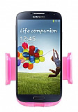 Eiroo Samsung i9500 Galaxy S4 Pembe Ara� Tutucu