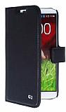 Eiroo LG G2 Standl� C�zdanl� Siyah Deri K�l�f