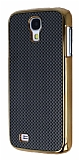 Eiroo Samsung i9600 Galaxy S4 Gold Metal Kenarl� Siyah Rubber K�l�f