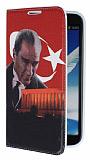 Eiroo Samsung N7100 Galaxy Note 2 An�tkabir Gizli M�knat�sl� Standl� Deri K�l�f