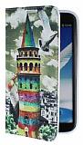 Eiroo Samsung N7100 Galaxy Note 2 Renkli Galata Kulesi Gizli M�knat�sl� Standl� Deri K�l�f