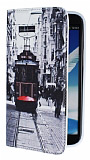 Eiroo Samsung N7100 Galaxy Note 2 Taksim Gizli M�knat�sl� Standl� Deri K�l�f